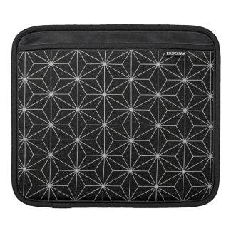 Housse iPad Motif géométrique élégant - argent et Noir