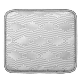 Housse iPad Motif géométrique gris et blanc à la mode