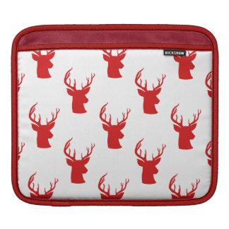 Housse iPad Motif rouge de vacances du mâle   Antler du renne