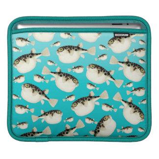 Housse iPad Motif turquoise de poissons de décolleur