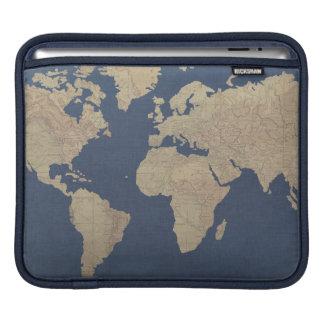 Housse iPad Or et carte bleue du monde