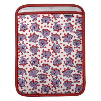 Housse iPad Petit motif de point rouge de polka de Mlle Bad |