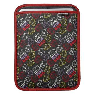 Housse iPad Petite Mlle Bad | motif noir, de rouge et de jaune