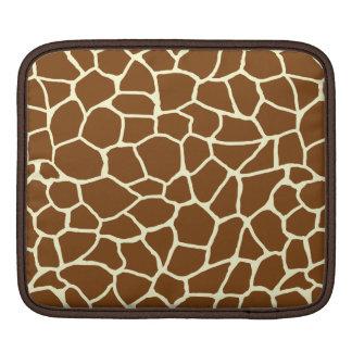 Housse iPad Poster de animal sauvage de motif de girafe