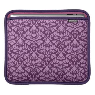 Housse iPad Rose de motif de damassé de Flourish grand sur la