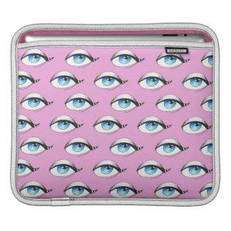 Housse iPad Rose de motif d'yeux bleus