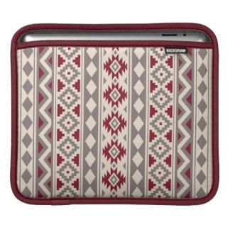 Housse iPad Rouge crème aztèque de Taupe de l'essence V Ptn