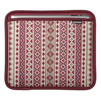 Housse iPad Sable crème de gris rouges aztèques de l'essence V