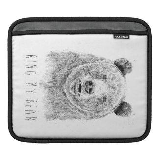 Housse iPad Sonnez mon ours (bw)