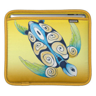 Housse iPad Tortue de mer sur le jaune