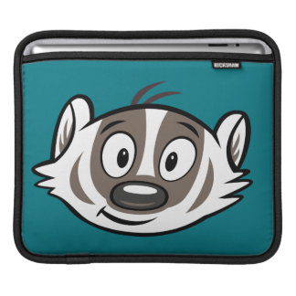 Housse iPad Visage de blaireau de boomer du raton laveur | de