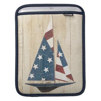 Housse iPad Voilier avec le drapeau américain