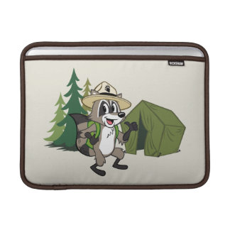 Housse Macbook Air Campout américain de Rick | de garde forestière