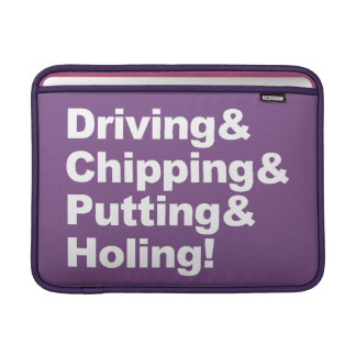 Housse Macbook Air Driving&Chipping&Putting&Holing (blanc)
