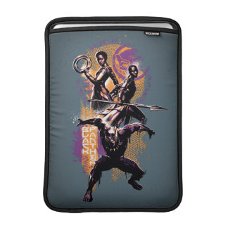 Housse Macbook Air Guerriers de la panthère noire | Wakandan peints