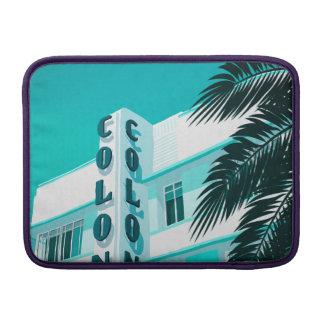 Housse Macbook Air Hôtel Miami de colonie