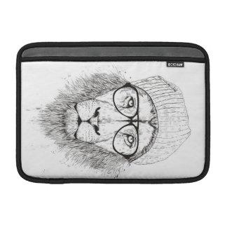 Housse Macbook Air Lion frais (noir et blanc)