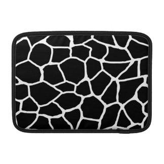 Housse Macbook Air Motif animal d'impression noir et blanc de girafe