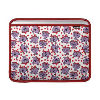 Housse Macbook Air Petit motif de point rouge de polka de Mlle Bad |