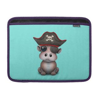 Housse Macbook Air Pirate mignon d'hippopotame de bébé
