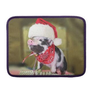 Housse Macbook Air Porc le père noël - porc de Noël - porcelet