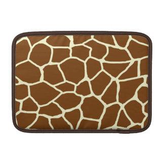 Housse Macbook Air Poster de animal sauvage de motif de girafe
