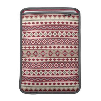 Housse Macbook Air Sable crème d'essence de motif de gris rouges