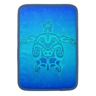 Housse Macbook Air Tortue tribale bleue