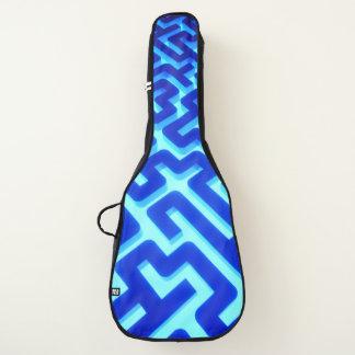 Housse Pour Guitare Bleu de labyrinthe