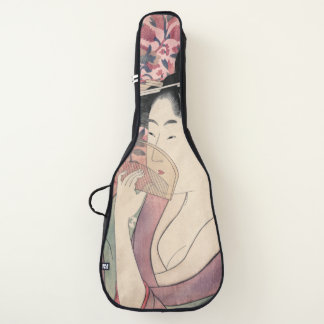 Housse Pour Guitare Femme japonaise tenant un peigne, Kitagawa Utamaro