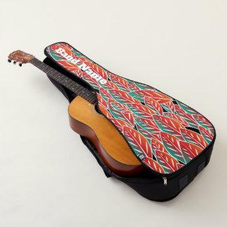 Housse Pour Guitare Feuille rouge indigène de Flora