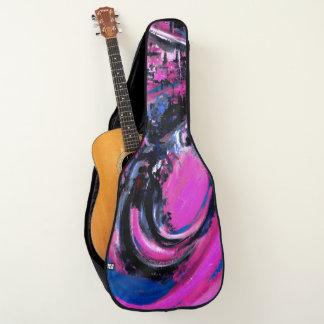 Housse Pour Guitare Grande vague rose