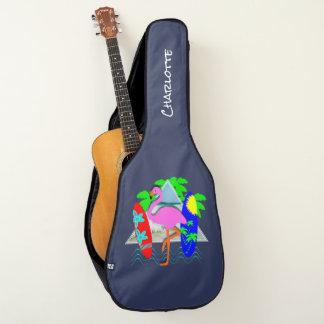 Housse Pour Guitare Panneaux de surf surfants de flamant rose