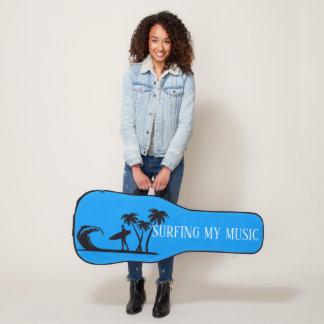 Housse Pour Guitare Surfer ma musique a personnalisé la caisse de