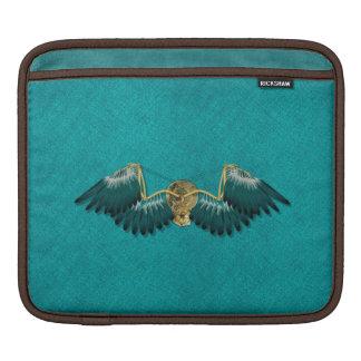 Housse Pour iPad Ailes mécaniques de Steampunk turquoises