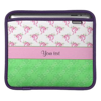 Housse Pour iPad Arcs romantiques de rose et damassé verte