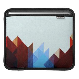 Housse Pour iPad Art géométrique bleu rouge