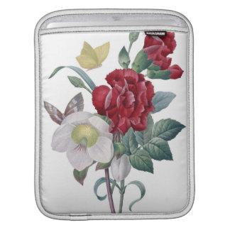 Housse Pour iPad bouquet d'anémone et d'oeillets