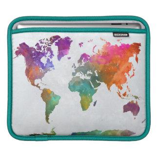Housse Pour iPad Carte du monde dans l'aquarelle