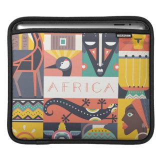 Housse Pour iPad Collage symbolique africain d'art