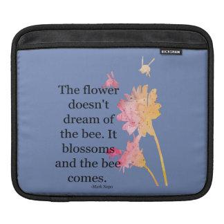 Housse Pour iPad douille d'iPad que la fleur ne rêve pas de