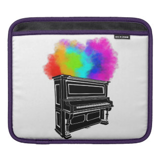 Housse Pour iPad Explosion de piano de couleur