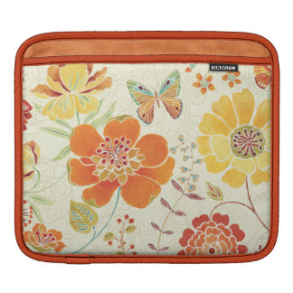Housse Pour iPad Fleurs et papillons colorés