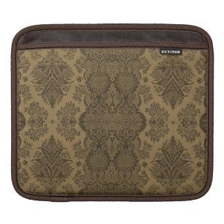 Housse Pour iPad Floral vintage de dentelle en Brown