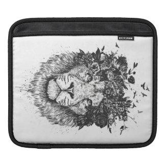 Housse Pour iPad Lion floral (noir et blanc)