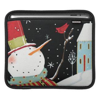 Housse Pour iPad Maison moderne d'hiver de bonhommes de neige