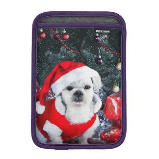 Housse Pour iPad Mini Caniche père Noël - chien de Noël - chien du père