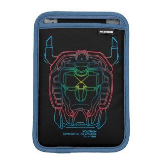 Housse Pour iPad Mini Contour pilote de tête de gradient de couleurs de