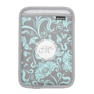 Housse Pour iPad Mini Douille florale vintage de monogramme de motif de
