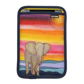 Housse Pour iPad Mini Éléphant africain au coucher du soleil